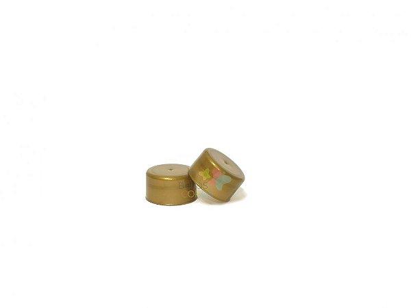 Tampa Plástica Dourada Rosca 28mm - 100 unidades