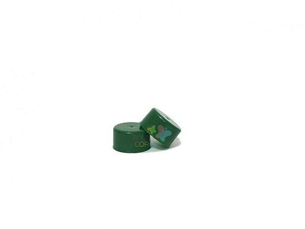 Tampa Plástica Verde Bandeira Rosca 28mm - 100 unidades