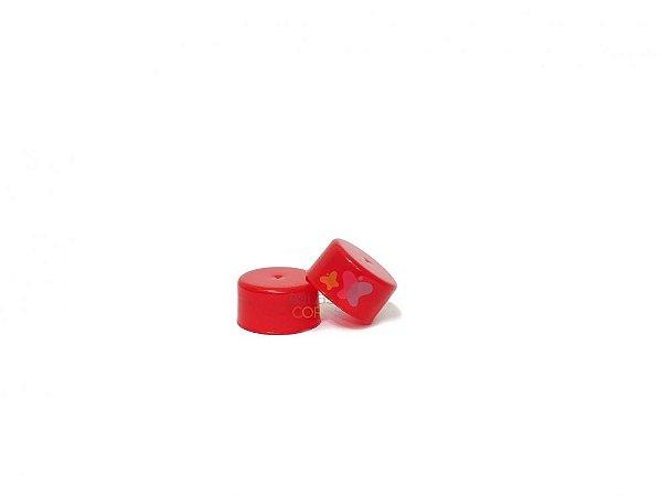 Tampa Plástica Vermelha Rosca 28mm - 100 unidades