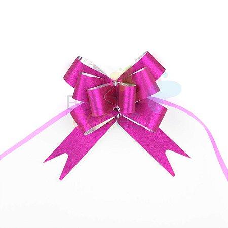 Laço Fácil Pronto Glitter Pink - 10 unidades