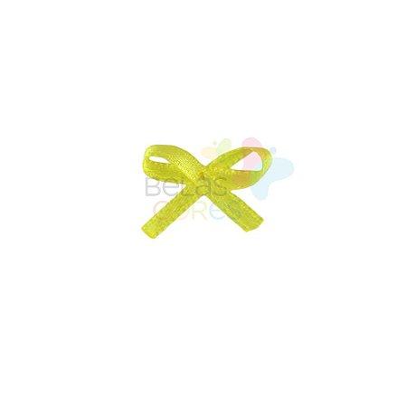 Mini Lacinho de Cetim Mosquitinho Amarelo - 100 unidades