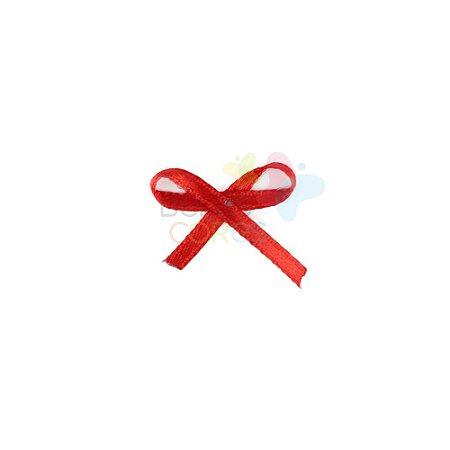 Mini Lacinho de Cetim Mosquitinho Vermelho - 100 unidades