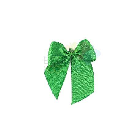 Mini Lacinho de Cetim Verde Bandeira - 50 unidades