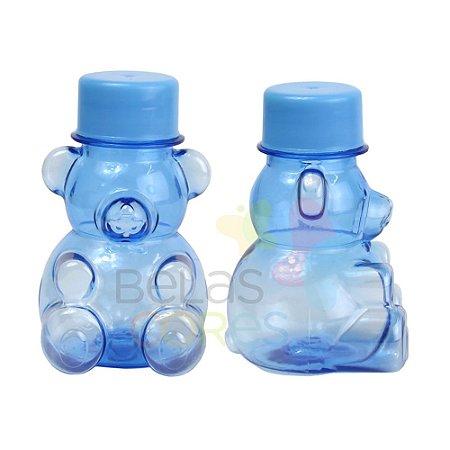 Tubete/Baleiro Pet Ursinho Azul Tampa Azul Claro - Kit c/ 10 unidades