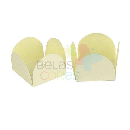 Forminha para Docinho Caixeta Creme Fosco Detalhado - Kit 25 unidades