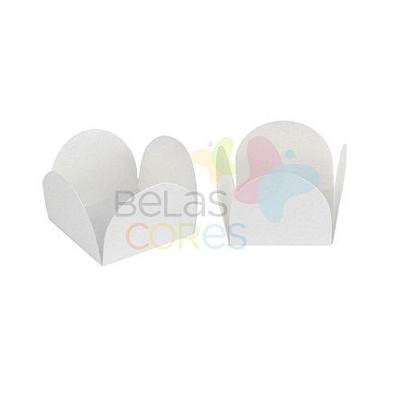 Forminha para Docinho Caixeta Branca Brilhosa - Kit 25 unidades