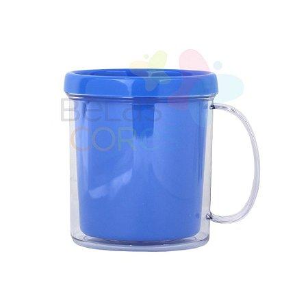 Caneca Acrílica com Rosca Azul Celeste - 10 unidades