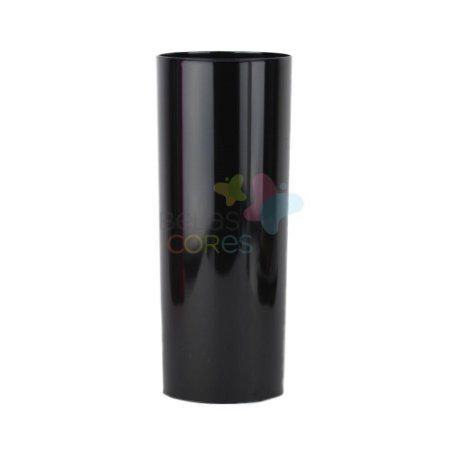 Copo Long Drink 350ml  Preto - 15 unidades