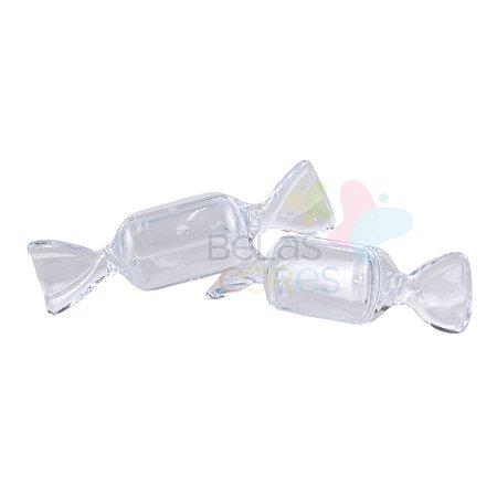 Mini Bala Acrílica - Transparente - 12 unidades