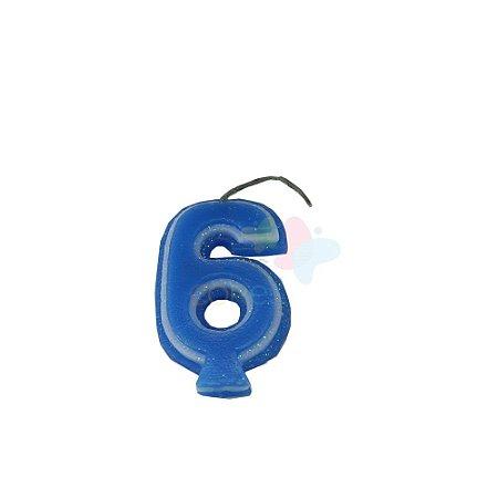 Velas de Aniversário - Numero 6