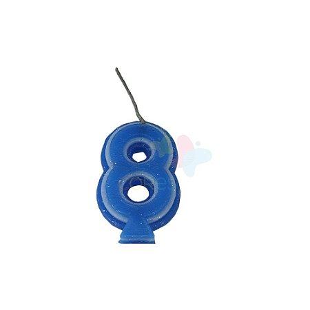 Velas de Aniversário - Numero 8