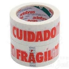 "Fita Adesiva ""CUIDADO FRÁGIL"" Adelbras 48x100"