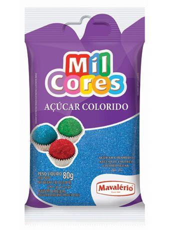 Açúcar Colorido Azul Mil Cores 80gr
