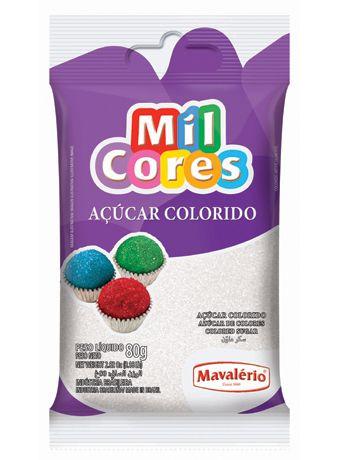 Açúcar Colorido Branco Mil Cores 80gr