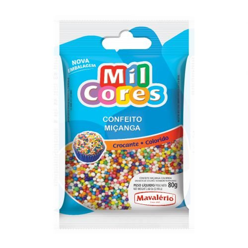 Confeito Miçanga Mil Cores 50gr