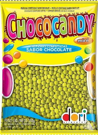 Chococandy Mini  Pastilhas Confeitadas Amarelo Sabor Chocolate Dori 350g
