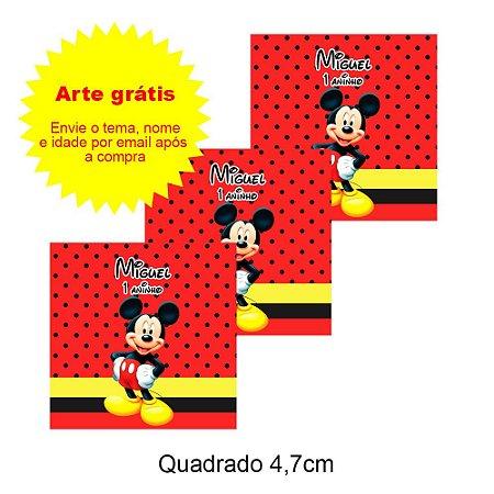 Adesivo Personalizado para Lembrancinha Quadrado 4,7cm