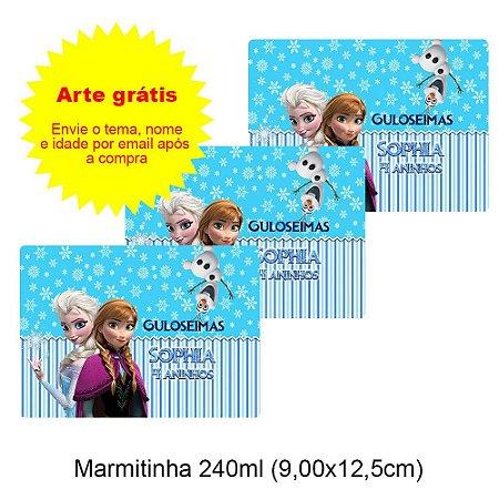 Adesivo Personalizado para Lembrancinha 9x12,5cm (para marmitinha 240ml)