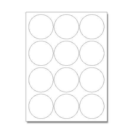 Etiquetas / Adesivos Fotográficos Brilhosa / Redondo 6,5cm - 10 Folhas (120 Adesivos)