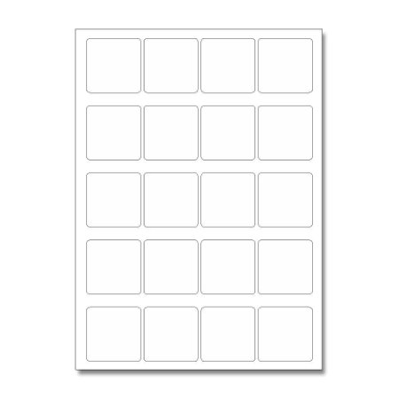 Etiquetas / Adesivos Fotográficos Brilhosa / Quadrado 4,7cm - 10 Folhas (200 Adesivos)