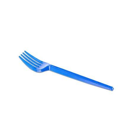 Garfo de Sobremesa Descartável Azul Prafesta - 50 Unidades