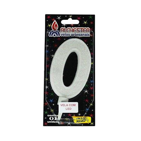 Vela Led Número 0 Alchester 10cm - 1 Unidade