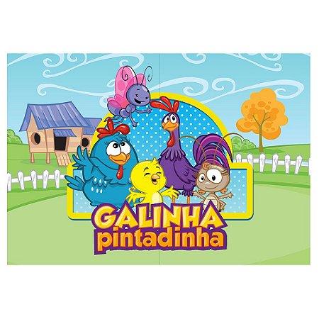 Painel de Festa Decorativo Galinha Pintadinha - 1 Unidade