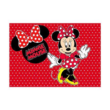 Painel de Festa Decorativo Minnie Vermelha - 1 Unidade