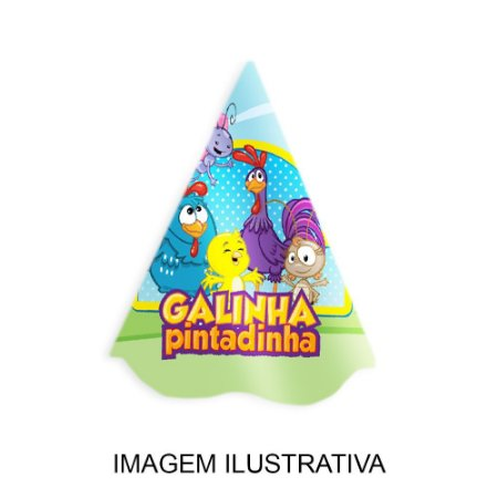5 Chapéus de Festa Galinha Pintadinha