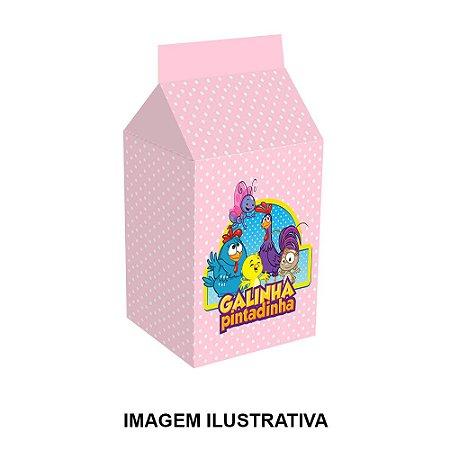 5 Caixinhas Milk Galinha Pintadinha Rosa Para Lembrancinha
