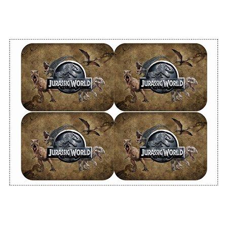 12 Adesivos Jurassic World para Marmitinha 240ml - 9x12,5cm