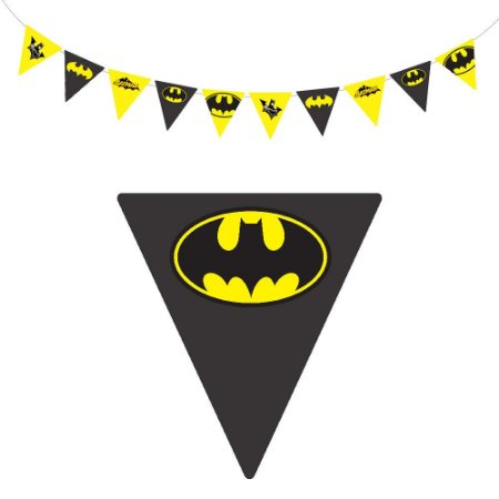 10 Bandeirolas Triangular Batman Geek
