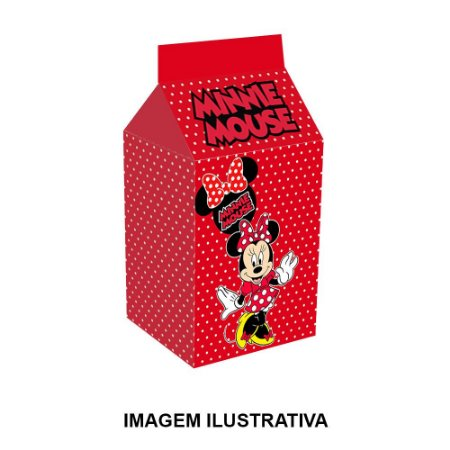 5 Caixinhas Milk Minnie Vermelha Para Lembrancinha