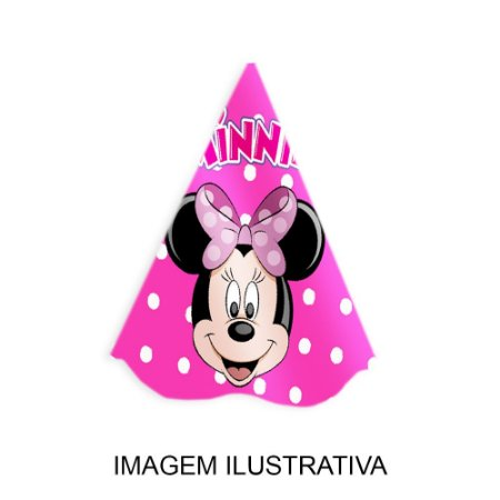 5 Chapéus de Festa Minnie Rosa