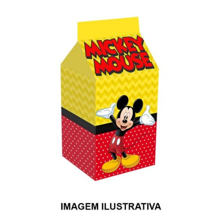 5 Caixinhas Milk Mickey Para Lembrancinha