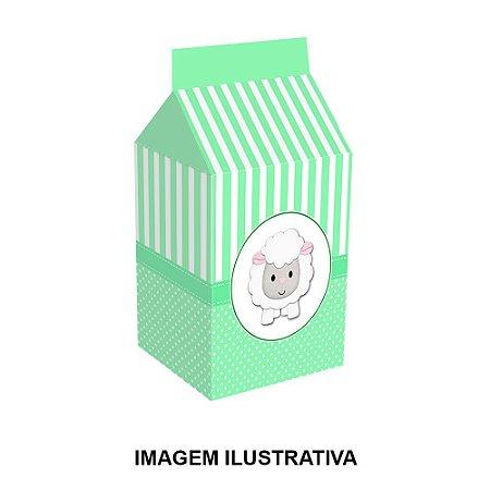 5 Caixinhas Milk Chá de Bebê Verde Para Lembrancinha