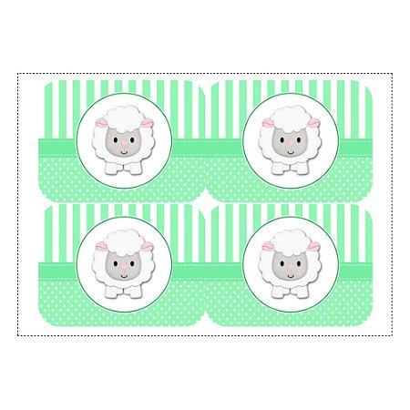 12 Adesivos Chá de Bebê Verde para Marmitinha 240ml