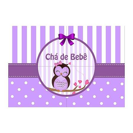 Painel de Festa Decorativo Chá de Bebê Lilás - 1 Unidade