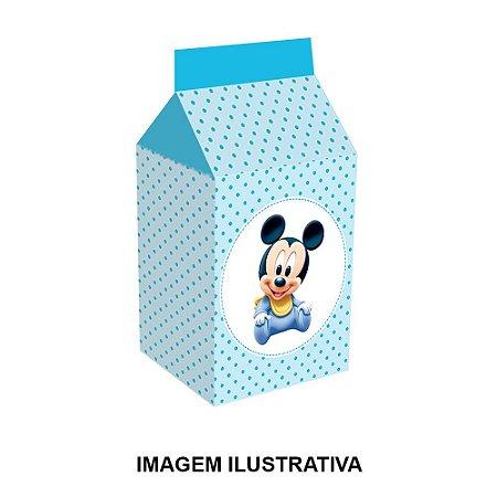 5 Caixinhas Milk Mickey Baby Para Lembrancinha