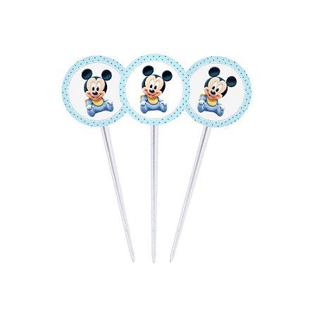 20 Toppers para Docinhos Mickey Baby