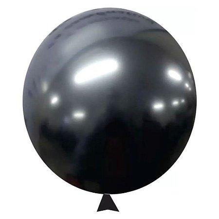 Balão / Bexiga Metalizado Alumínio Onix N°09 - 25 Unidades