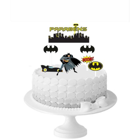 Topo de Bolo Batman Geek - 1 Unidade