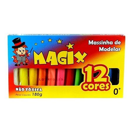 Massinha de Modelar 12 Cores Magix - 1 Unidade