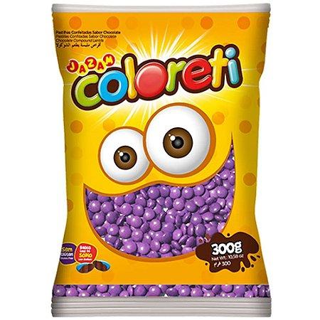 Confeito de Chocolate Coloreti Lilás 300g