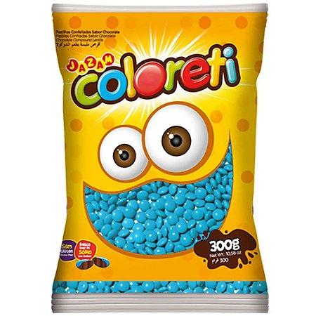 Confeito de Chocolate Coloreti Azul 300g