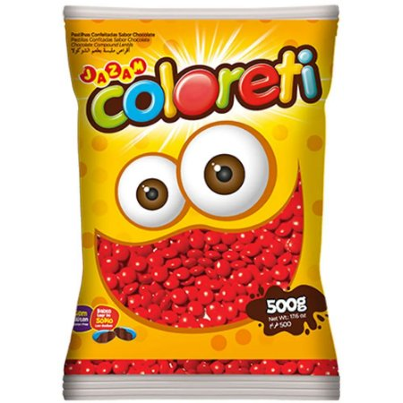 Confeito de Chocolate Coloreti Vermelho 300g