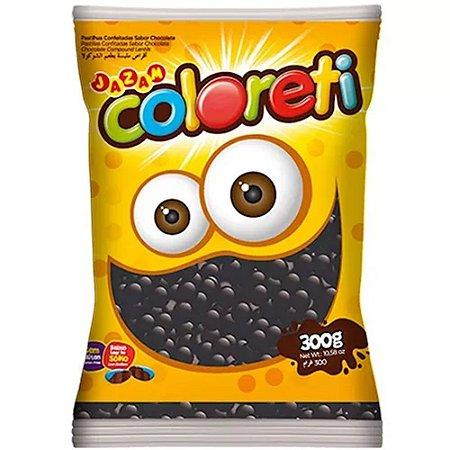 Confeito de Chocolate Coloreti Preto 300g
