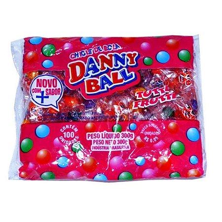 Goma de Mascar Chicle de Bola Danny Ball Tutti Frutti 300g (+/- 100 Unidades)