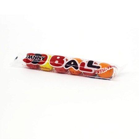 Goma de Mascar Chicle de Bola Danny Ball Tutti Frutti Pacote com 6 Unidades