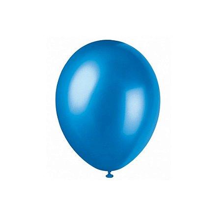 """Balão Bexiga Lisa Azul 6,5"""" 15cm - 20 Unidades"""